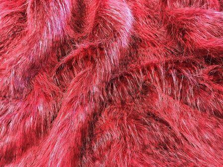 Scarlet Pimpernel Faux Fur Fabric Per Meter