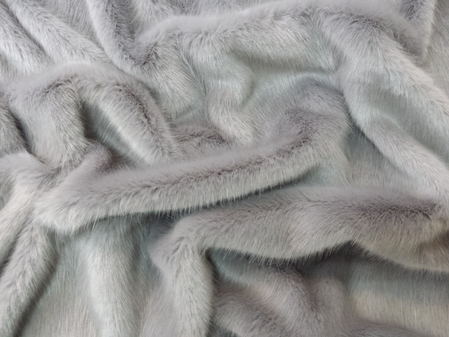 Silver Mink Faux Fur SECONDS Per Meter