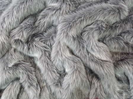 SALE Silver Musquash Faux Fur Throws