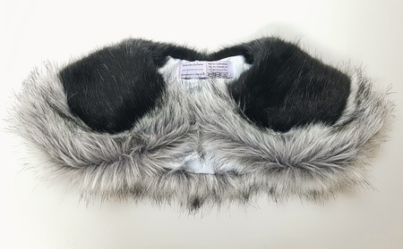 Silver Musquash and Charcoal Mink Faux Fur Two Tone Sailor Collar