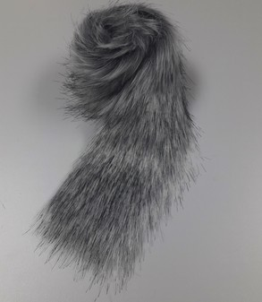 Silver Musquash Faux Fur Trims