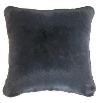 Slate Grey Faux Fur Cushions