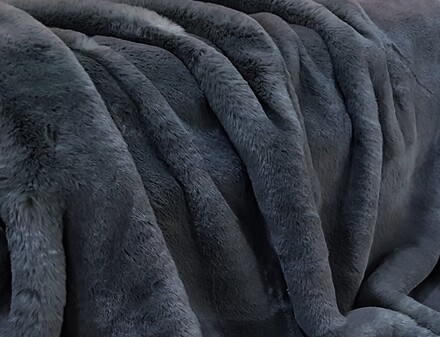 Slate Grey Faux Fur Fabric Per Meter