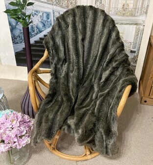 SALE Smokey Mountain Faux Fur Throws & Cushions