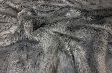 Steel Grey Faux Fur Throws