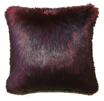 Tuscan Red Faux Fur Cushions