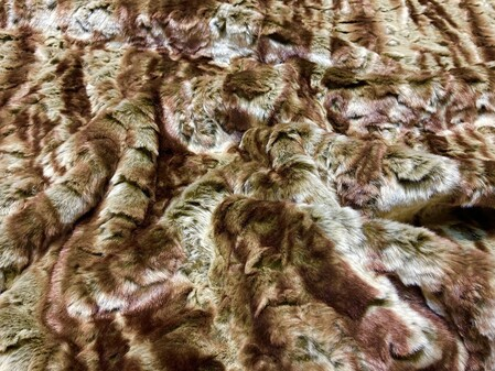 Vintage Bronze Astra Faux Fur Fabric