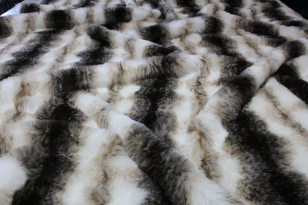 White Italian Wolf Faux Fur Swatch