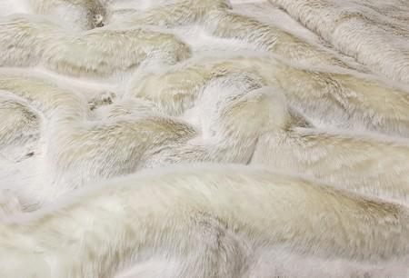 Beige Frost Faux Fur Fabric