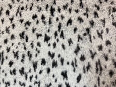Tissavel Winter Leopard Faux Fur Fabric