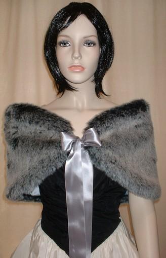 Arctic Wolf Faux Fur Wrap