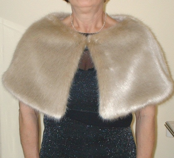 Honey Blonde Faux Fur Capelet