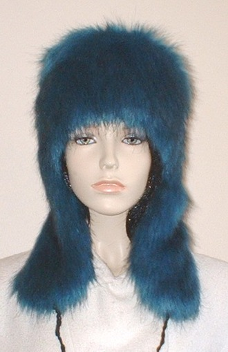 Blue Lagoon Faux Fur Trapper Hat
