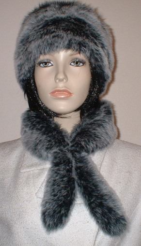Arctic Wolf Faux Fur Slim Collar/Headband