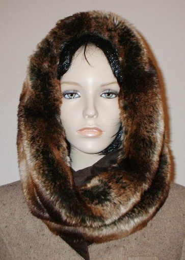 Madagascar Faux Fur Cowl/Neck Warmer