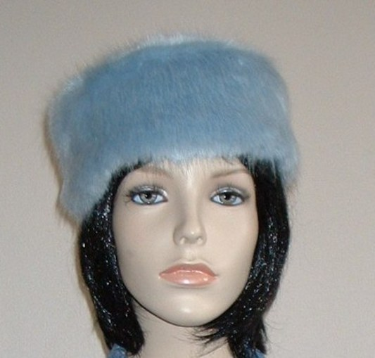 Powder Blue Pill Box Hat