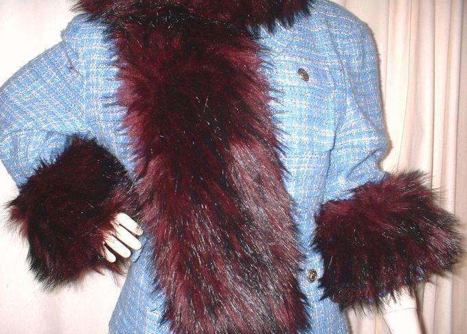 Tuscan Red Faux Fur Cuffs (Pair)