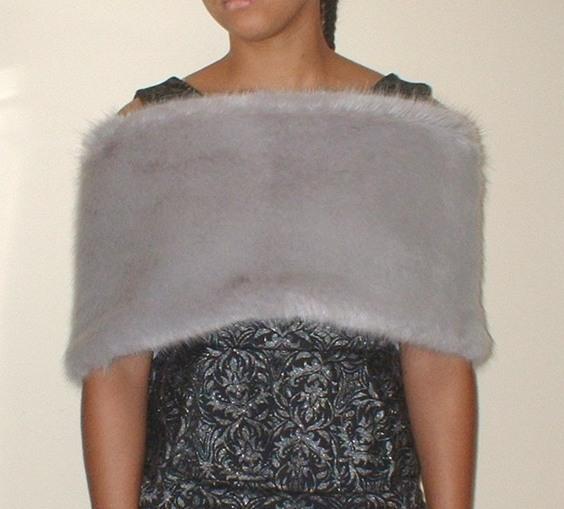 Silver Mink Faux Fur Flapper