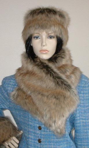 Husky Faux Fur Asymmetric Scarf