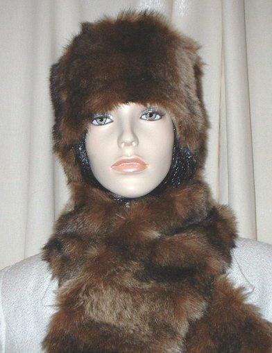 Russian Sable Faux Fur Hat Medium Size