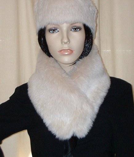 Sunny Bear Faux Fur Long Collar