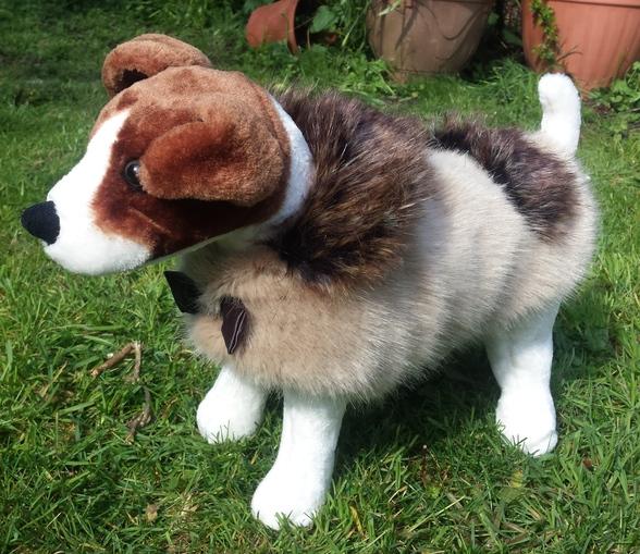 Honey Blonde and Kodiac Bear Faux Fur Dog Coat