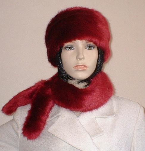 Ruby Red Faux Fur Headband