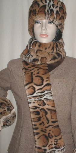 Jaguar Faux Fur Scarf