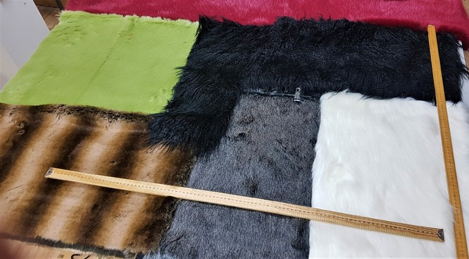 Faux Fur Pieces Per Meter: Mixed