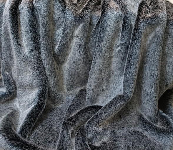Arctic Wolf Faux Fur Fabric per meter