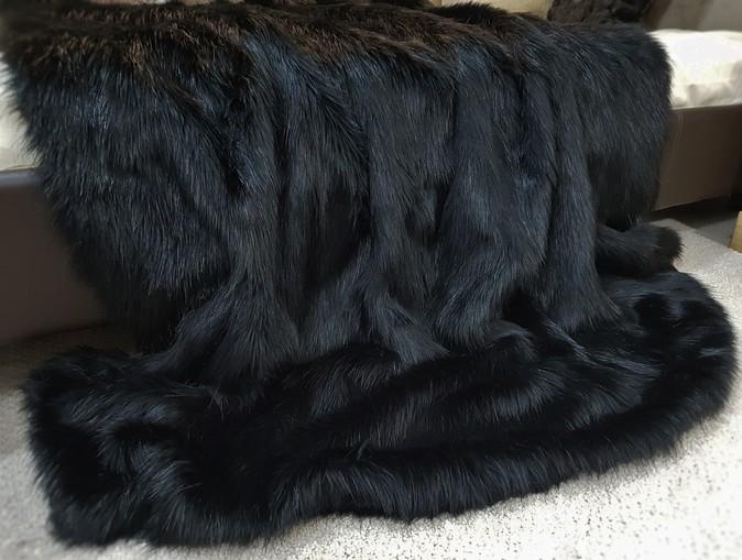 SALE Black Bear Faux Fur Both Sides Throw LAP 1m long x 1.5m wide