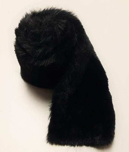 Black Moleskin Faux Fur Trims
