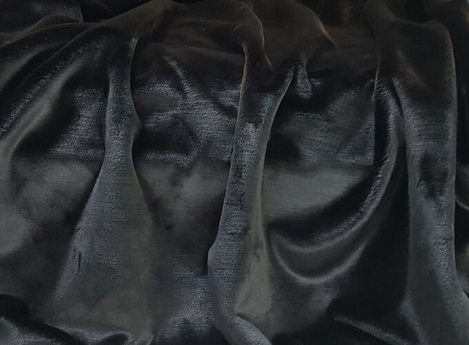 Black Moleskin Faux Fur Fabric Per Meter