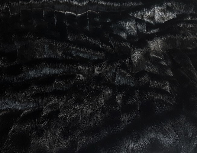 Black Pelted Faux Fur Fabric