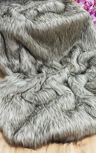 Raccoon Faux Fur Fabric Per Meter