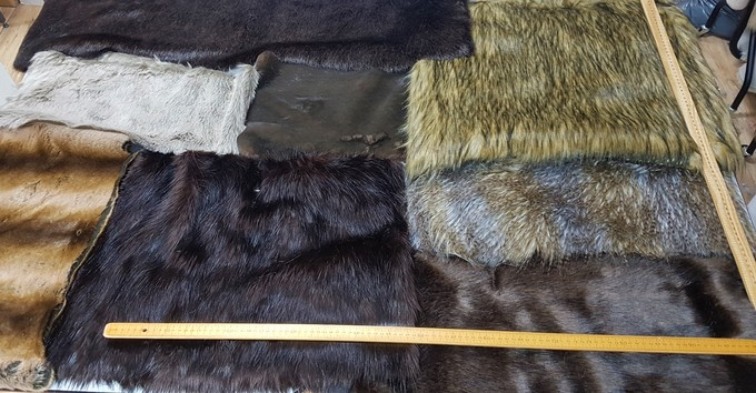 Faux Fur Pieces Per Meter: Browns