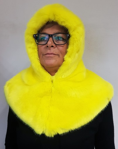 Tissavel Buttercup Faux Fur Zipped Hood