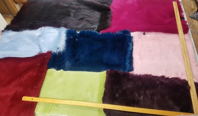 Faux Fur Pieces Per Meter: Colours