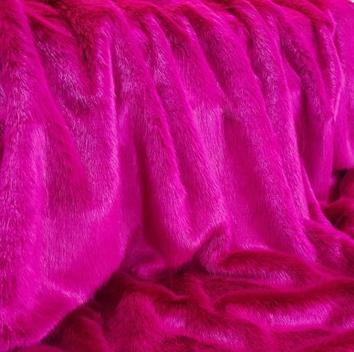 Hot Pink Mink Faux Fur SECONDS Per Meter