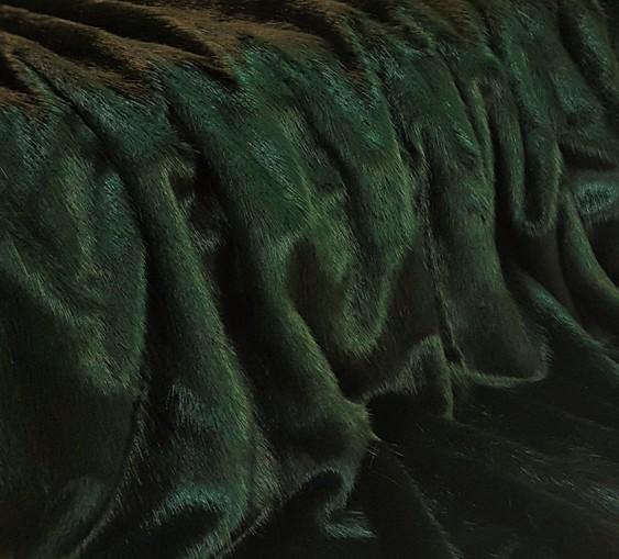 Hunter Green Faux Fur SECONDS Per Meter