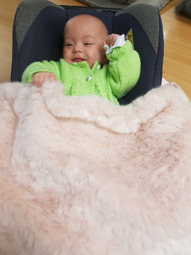 Tissavel Raspberry Ripple Faux Fur Baby Blankets
