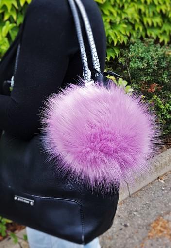 Lilac Mist Faux Fur Giant Pom Pom