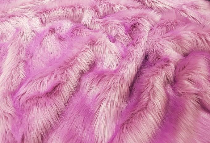 Lilac Mist Faux Fur Swatch