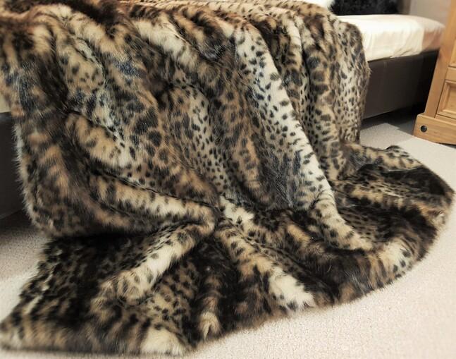 SALE Ocelot Faux Fur Throws