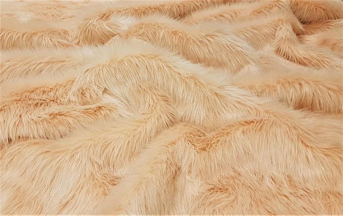 Peach Faux Fur Fabric