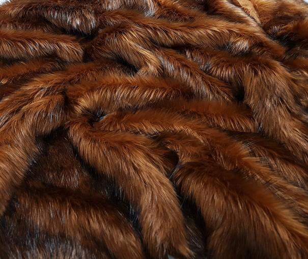 Red Fox Faux Fur SECONDS Per Meter