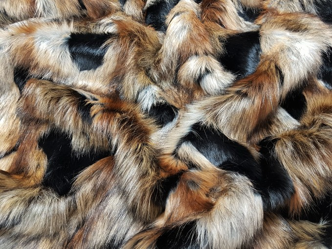 Tissavel Serengeti Faux Fur Tote Handbag