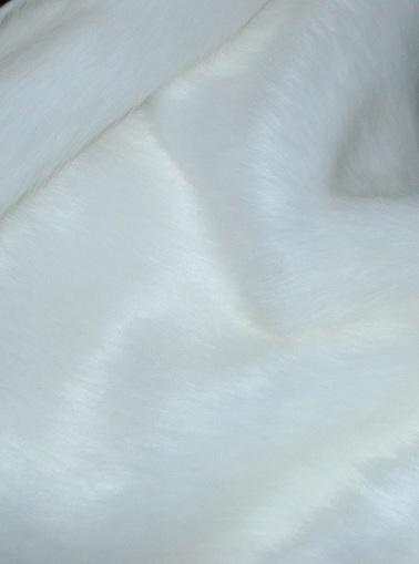 SALE Original Snow White Faux Fur Throw with White Velboa LAP 1m long x 1.5m wide