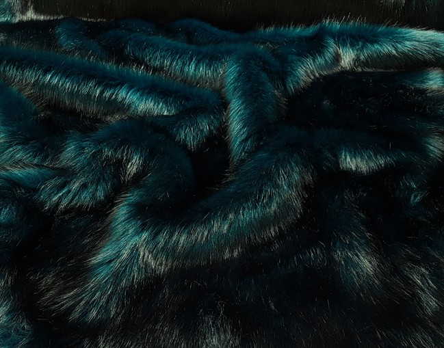 Tissavel Teal Faux Fur Swatch