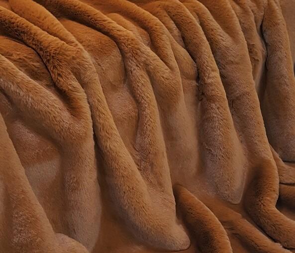 Autumn Leaves Faux Fur Fabric Per Meter